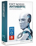 ESET NOD32 Internet Security на 3 ПК / 1 год
